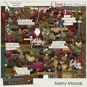 Merry Moose by BoomersGirl Designs