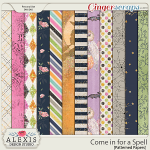 Come in for a Spell - Patterned Papers