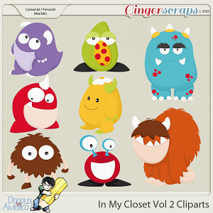 Doodles By Americo: In My Closet Vol 2 Cliparts