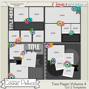 Two Pager Volume 4 - 12x12 Temps (CU Ok) by Connie Prince