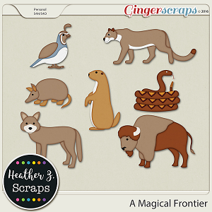 A Magical Frontier ANIMALS by Heather Z Scraps