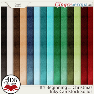 It's Beginning ... Christmas Solid Papers by ADB Designs
