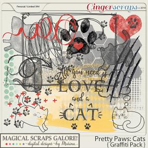 Pretty Paws: Cats (graffiti pack)