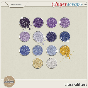 Libra Glitters by JoCee Designs