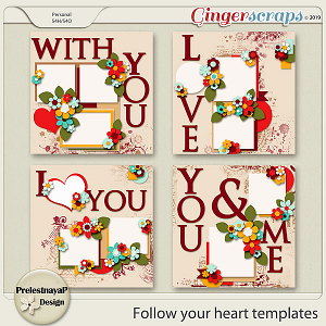 Follow your heart Templates