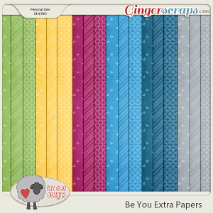 Be You Extra Papers by Luv Ewe Designs