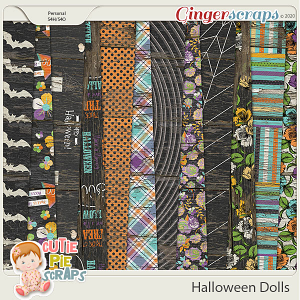 Halloween Dolls-Wood Papers