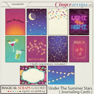 Under The Summer Stars (journaling cards)