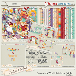 Colour My World Rainbow Bright  Collection
