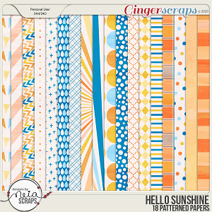 Hello Sunshine - Patterned Papers - by Neia Scraps