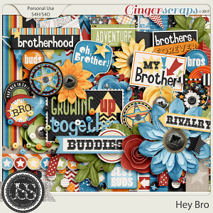 Hey Bro Digital Scrapbook Kit