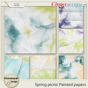 Spring picnic Painted papers