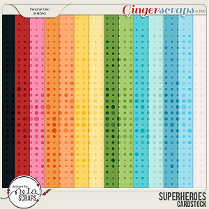 Superheroes - Cardstock by Neia Scraps
