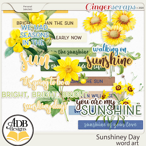 Sunshiney Day Word Art by ADB Designs