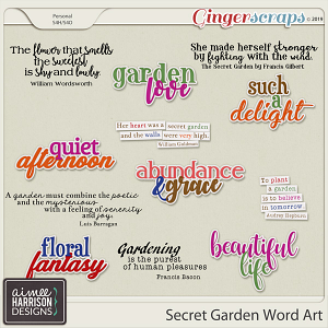 Secret Garden Word Art by Aimee Harrison