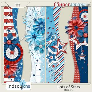 Lots of Stars Borders by Lindsay Jane