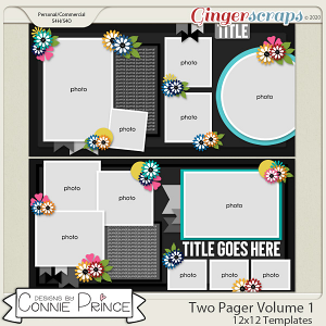 Two Pager Volume 1 - 12x12 Temps (CU Ok) by Connie Prince