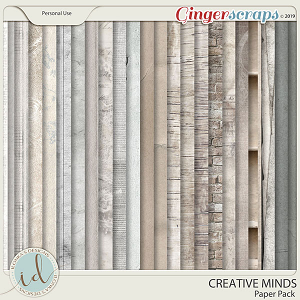 Creative Minds Paper Pack by Ilonka's Designs