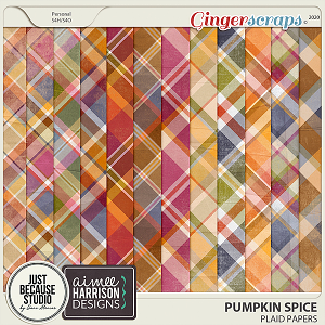Pumpkin Spice Plaid Papers by JB Studio and Aimee Harrison Designs