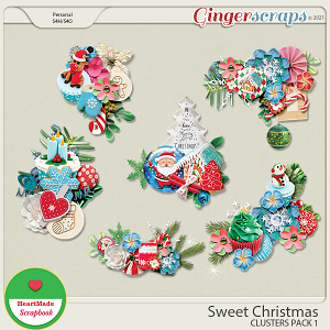 Sweet Christmas - clusters pack 1