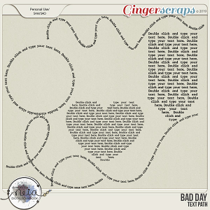 Bad Day - Text Path - by Neia Scraps