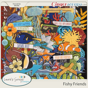 Fishy Friends Page Kit