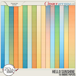 Hello Sunshine - Ombre Papers - by Neia Scraps