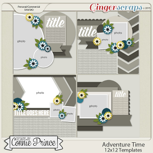Adventure Time - 12x12 Templates (CU Ok)