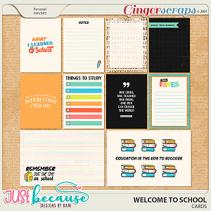 Welcome To School Cards by JB Studio