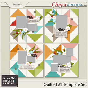 Quilted #1 Templates by Aimee Harrison