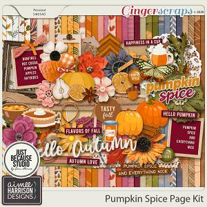 Pumpkin Spice Page Kit by Aimee Harrison and JB Studio