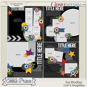 Ice Hockey - 12x12 Templates (CU Ok)
