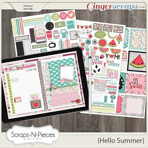 Hello Summer Planner Pieces - Scraps N Pieces