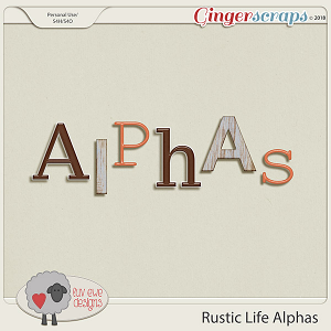 Rustic Life Alphas by Luv Ewe Designs