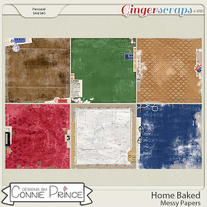 Home Baked - Messy Papers by Connie Prince