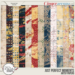 Just Perfect Moments - Artsy Papers - by Neia Scraps