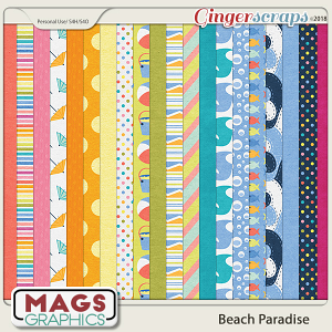 Beach Paradise PAPERS by MagsGraphics