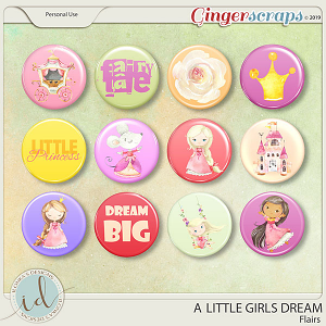 A Little Girls Dream Flairs by Ilonka's Designs