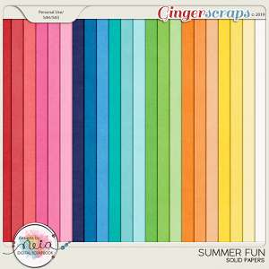 Summer Fun - Solid Papers - by Neia Scraps