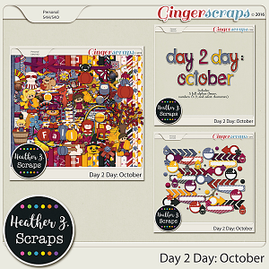 Day 2 Day: October BUNDLE by Heather Z Scraps