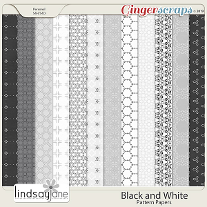 Black and White Pattern Papers by Lindsay Jane