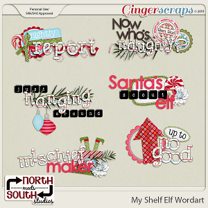 My Shelf Elf Wordart by North Meets South Studios