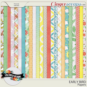 Early Bird - Papers by Lisa Rosa Designs