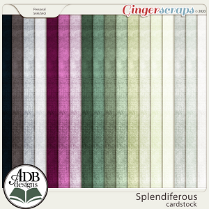 Splendiferous Solid Papers by ADB Designs