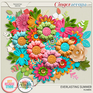 Everlasting Summer Flowers by JB Studio and Neia Scraps