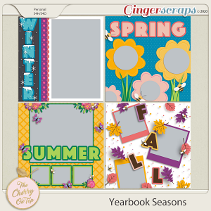 The Cherry On Top:  Yearbook Seasons Templates
