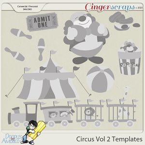Doodles By Americo: Circus Vol 2 Templates