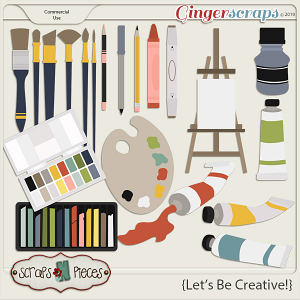 Let's Be Creative CU Templates by Scraps N Pieces