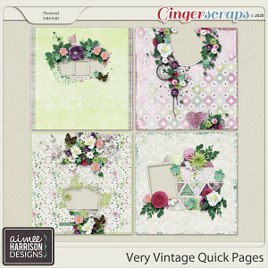 Very Vintage Quickpages by Aimee Harrison