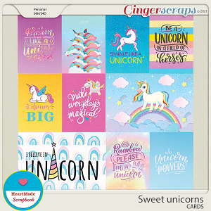 Sweet unicorns - cards